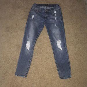 Denim - Dark ripped jeans